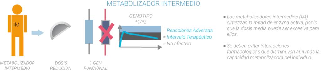 Metabolizadores intermedios farmacogenética